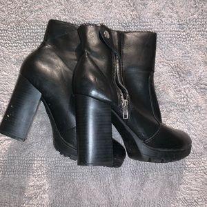 Shoes - Moto platform bootie